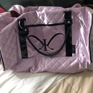 Kim Kardashian weekender quilted travel bag